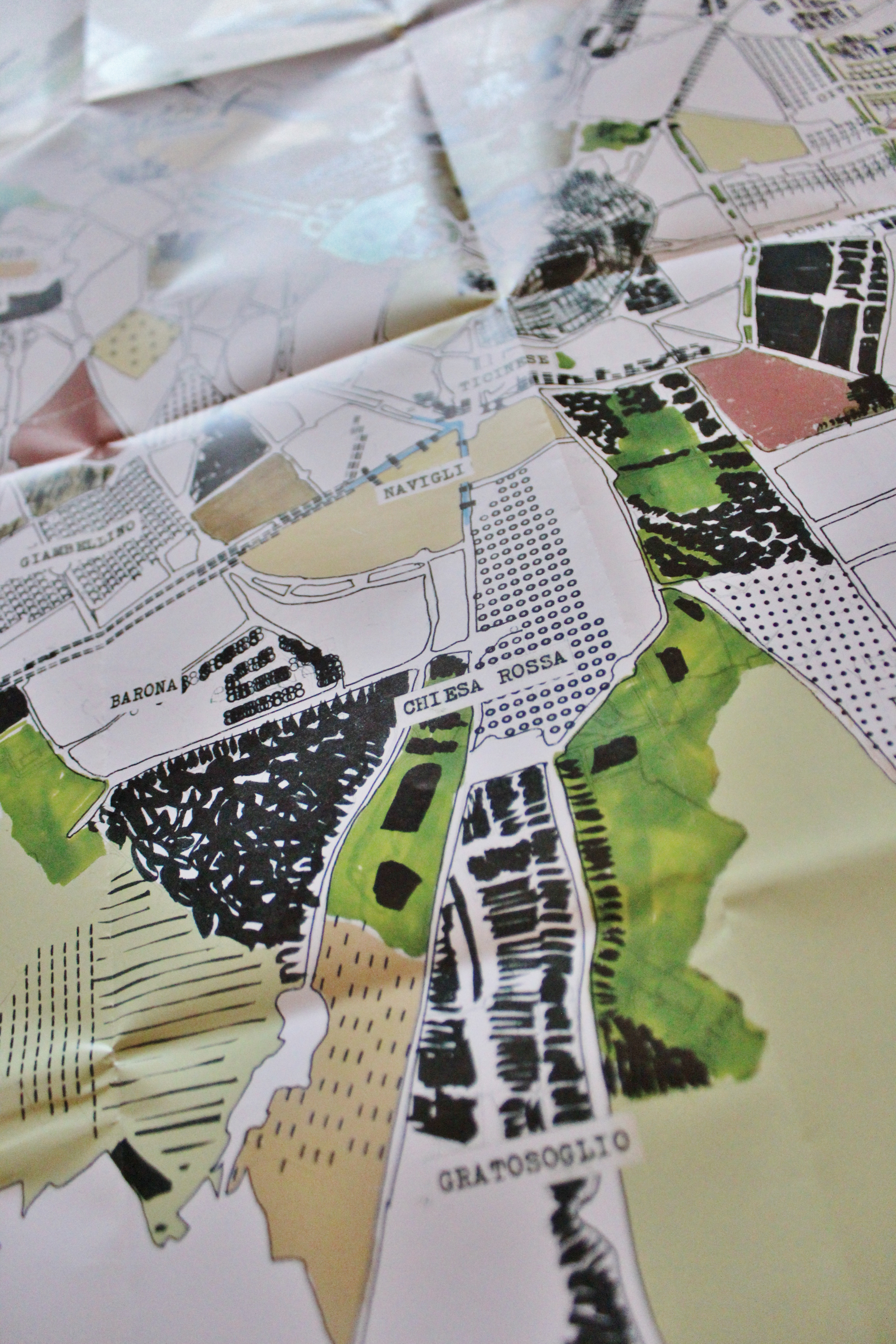 Detail of Milan city map by Lilo