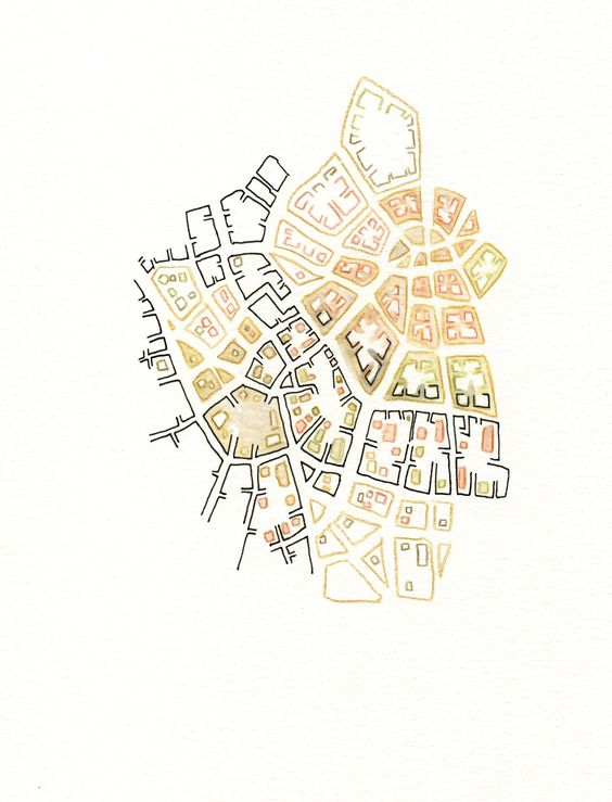 Emily Garfield.<br /> Map sketches