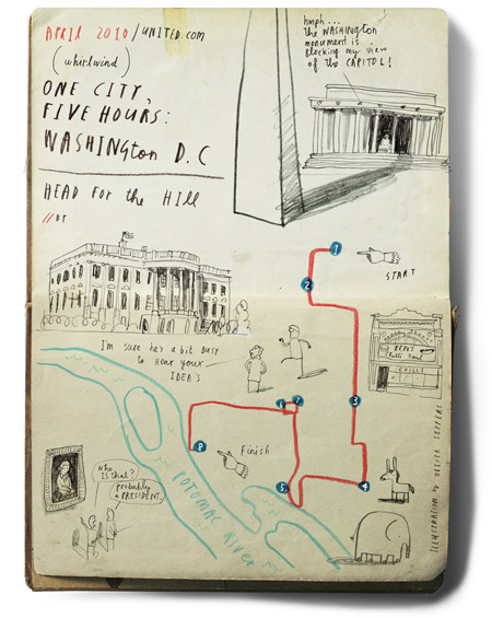 "Oliver Jeffers, ""One city, Five hours: Washington DC"" 2010"