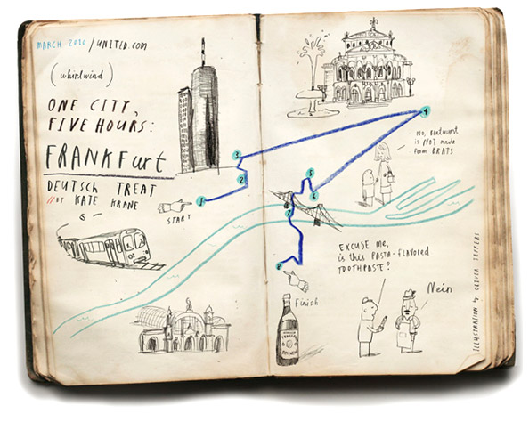 "Oliver Jeffers, ""One city, Five hours: Frankfurt"" 2010"