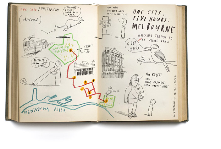 "Oliver Jeffers, ""One city, Five hours: Melbourne"" 2010"