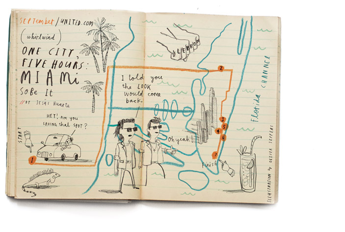 "Oliver Jeffers, ""One city, Five hours: Miami"" 2010"