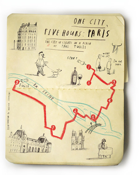"Oliver Jeffers, ""One city, Five hours: Paris"" 2010"