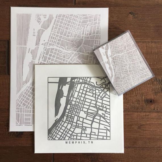 Karen O'Leary, Menphis printed map