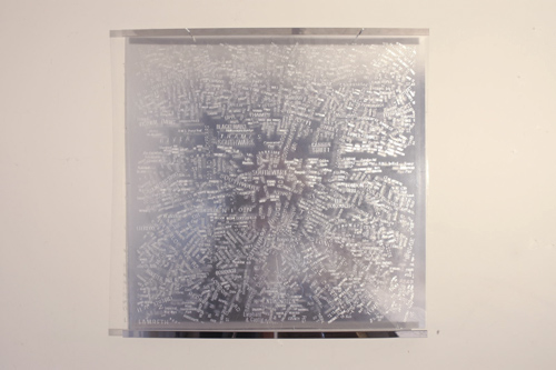 Matthew Picton, London A-Z #1 Text Work Laminated duralar, 2006