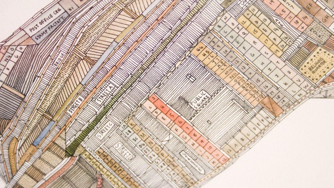 Nigel Peake, Blueprint, 2006, detail