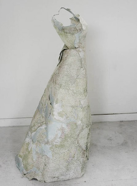 Susan Stockwell, Dress Sculptures, Cartographic Dress, 2010