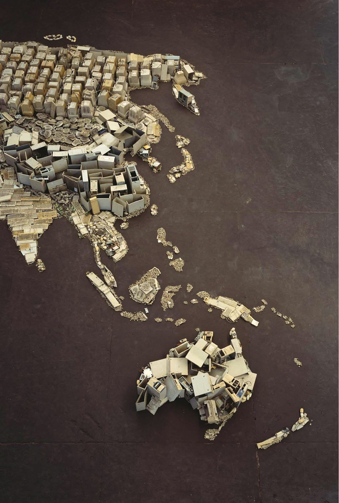 Vik Muniz, www (World Map), 2008
